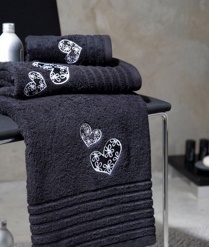Juego 3 toallas de ba o modelo cuore su composici n es 100 algod n peinado de 450 gr m2 - Toallas algodon peinado ...