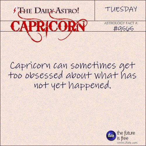 Daily astrology fact from The Daily Astro! Capricorn, have you seen today's horoscope???   Visit iFate.com now!