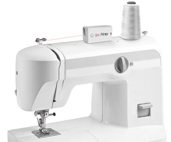 """Need to fix a garment but don't have the matching thread color?  With this """"Line Printer"""" you use the camera to capture the color of the fabric and then 'print' the color on the thread before you start sewing."""