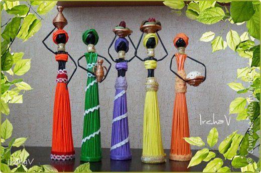 Поделка изделие Плетение Африканки Бумага фото 1