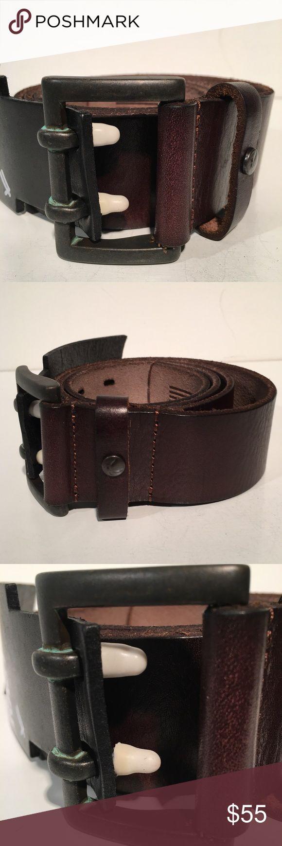 William Rast Brown Leather Belt Brand New William Rast Accessories Belts