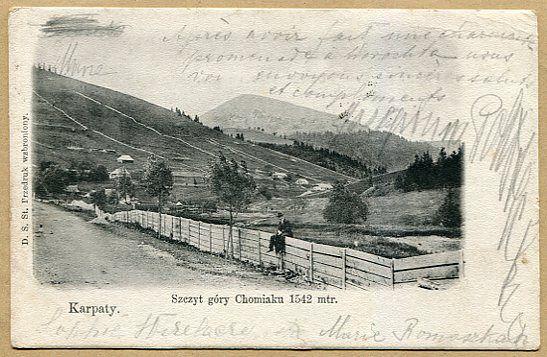 GORGANY - Szczyt góry Chomiak 1542m  --  1904 rok