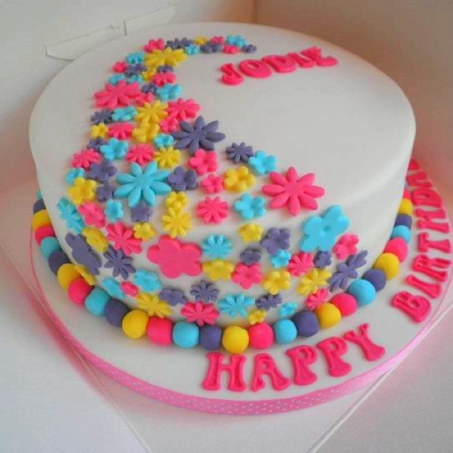 Flower Birthday Cake Made By Me