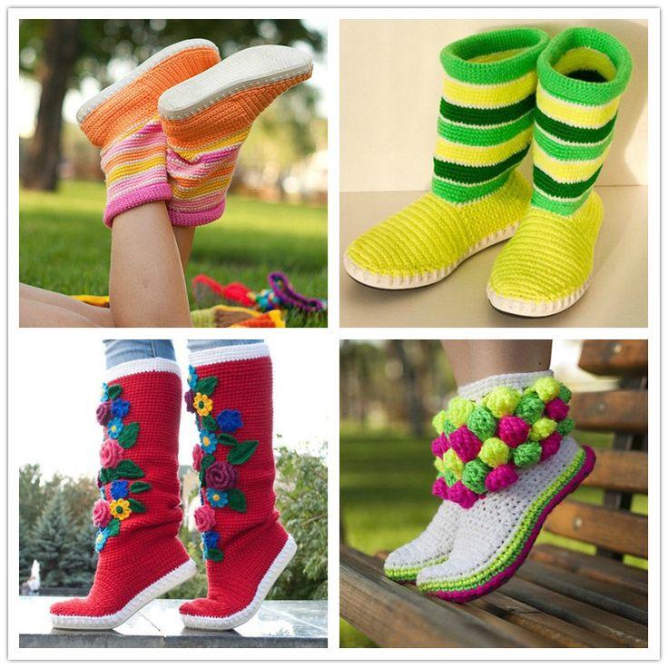 114 best Schuhe selber machen images on Pinterest | Crochet slippers ...