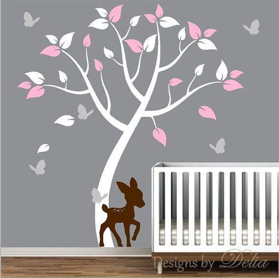 Baby deer nursery wall decal