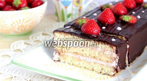 Творожный торт с клубникой пошагово в домашних условиях