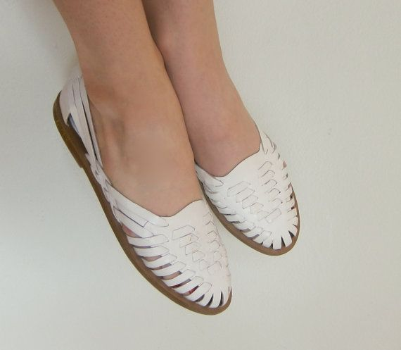 42bacd43dcd85 Buy white leather huarache sandals - 62% OFF