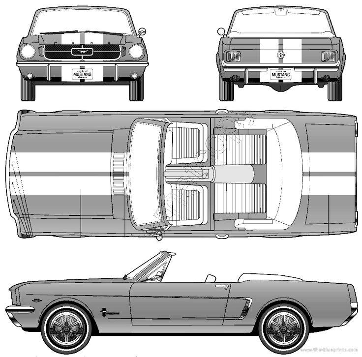 1964 Ford Mustang Convertible Blueprint