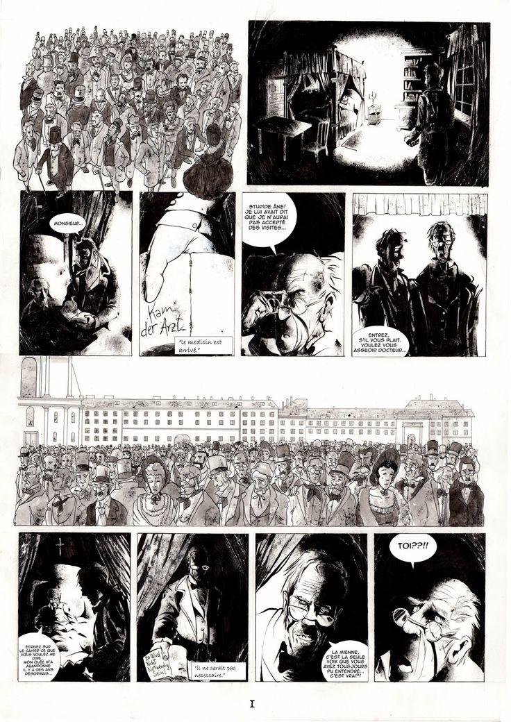 Le percepteur tav1 - #percepteur#bd#comics#noir#blanche#beethoven#die#décés#satan#diable#devil#machine#composeur#ink#strange#vien#foule#funeral#funérailles#