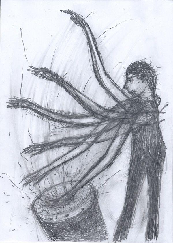 Un disegno di Giuliano Guatta