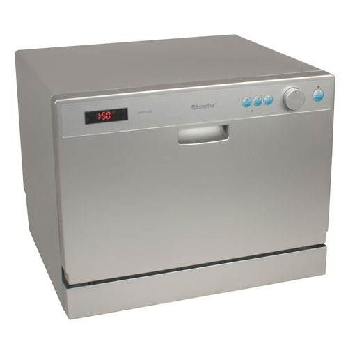 EdgeStar 6 Place Setting Energy Star Countertop Dishwasher - Silver