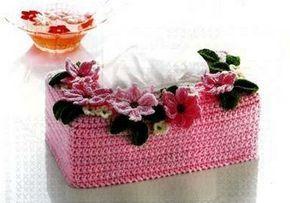 Adorables boites à mouchoirs colorées , décorées de fleurs et de feuilles , trouvées sur le site de & Liveinternet.ru/laura & , avec ses grilles gratuites !  Fans de crochet d'Art , je vous propose des modèles et grilles gratuites trouvés sur le net et...