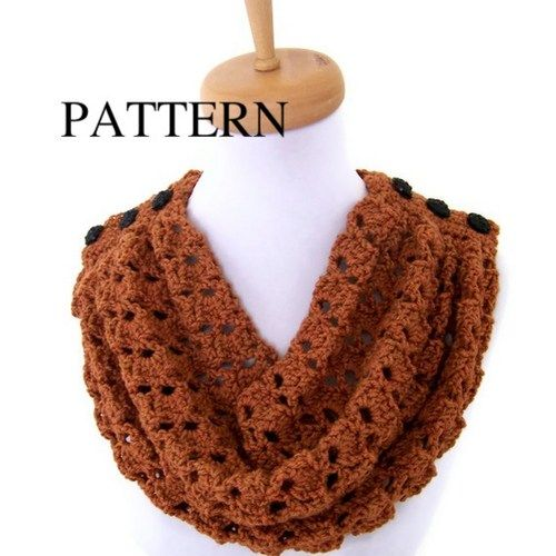 Crochet Pattern - Crochet Cowl Pattern PDF for the Persimmon Cowl | CityStyle - Patterns on ArtFire