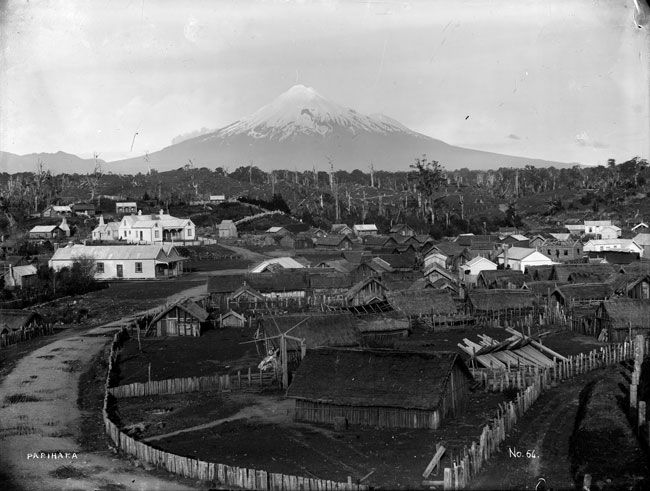 looking over parihaka pa about 1890