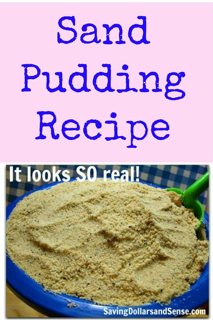 This Sand Pudding Recipe is a hit! It is delicious, simple are SO real looking!!