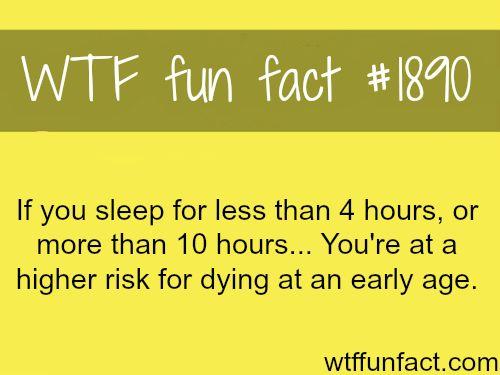 Sleep and health facts