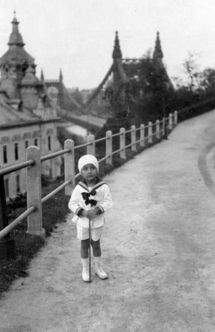 Erzsébet híd a Gellérthegy tabáni oldalából nézve, 1927