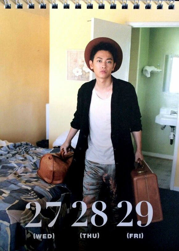 Takeru calendar, July 2016