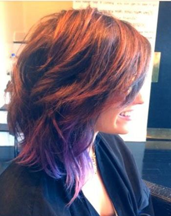 haircut wavy hair 25 best ideas about purple tips on purple 4779