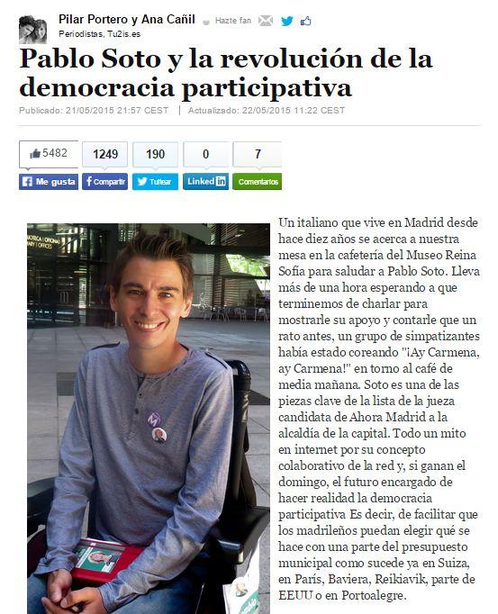 Pablo Soto y la revolución de la democracia participativa / @elhuffpost | #readyfordigitalcitizenship #readytoshare #readytoworktogether