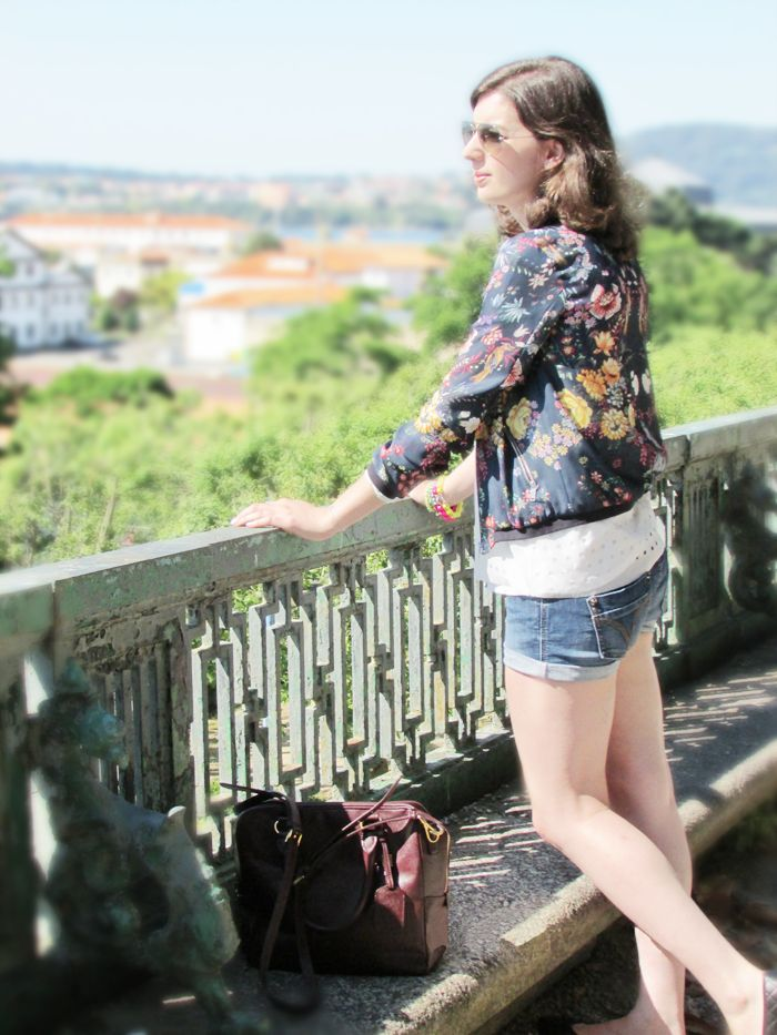 Style & Paper: Floral Bomber Jacket