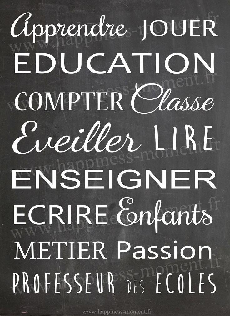 .. Printable - Un cadre pour les Maîtres/Maîtresses ..
