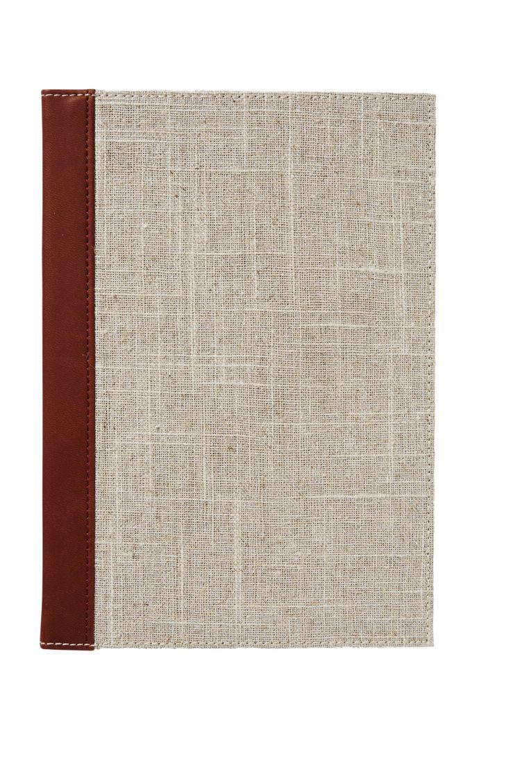 A5 slim notebook linen