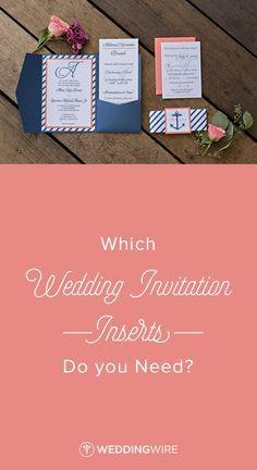 17 Best Ideas About Wedding Invitation Inserts On