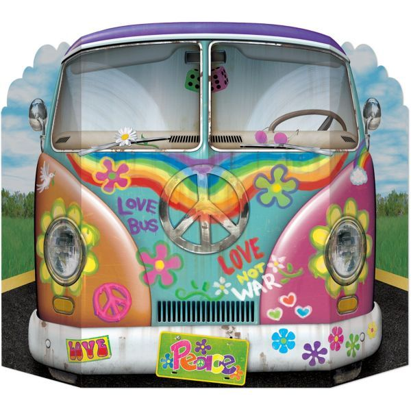 Hippie Bus Photo Prop 25in x 37in love it