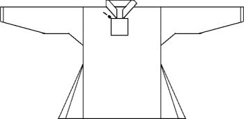 Line drawing of the Skjold harbour shirt.