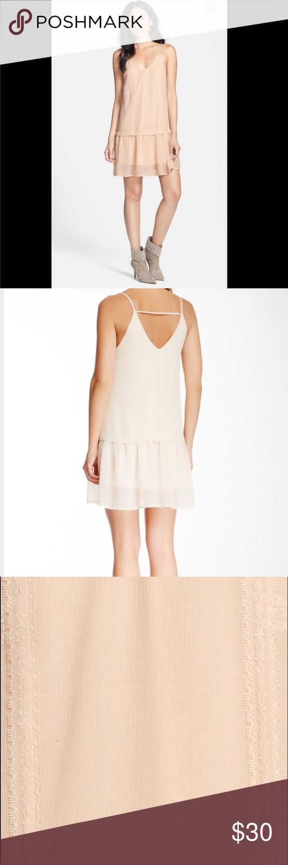 ASTR DRESS New without tags! Sheer light material... Comes with attached under slip .. Beautiful light plush cream color ASTR Dresses Midi