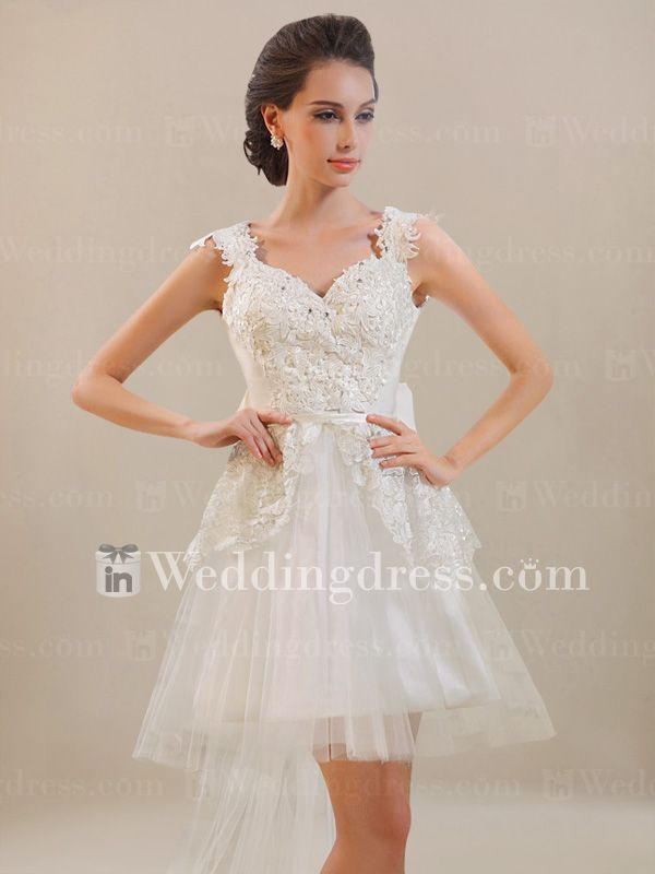 Short Casual Wedding Dress for Beach Wedding BC497