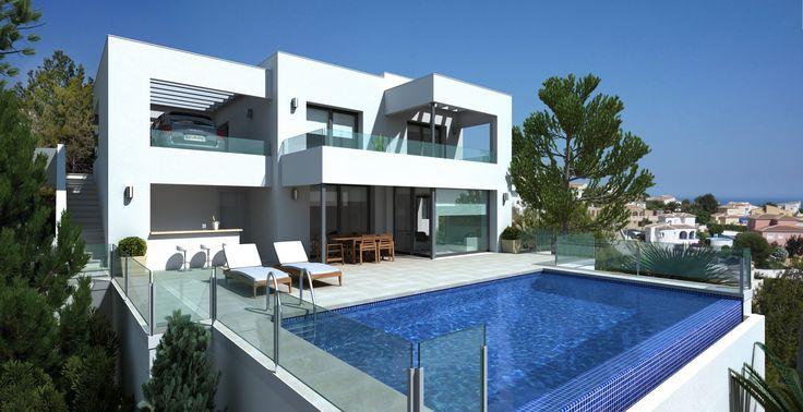 Piękna, nowa willa o powierzchni ponad 360 m2, na działce 740 m2. Na trzech poziomach znajdują się 3 sypialnie, 3 łazienki, obszerny salon, kuchnia oraz miejsce na wykonanie dodatkowego, osobnego mieszkania dla gości.