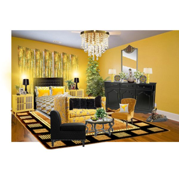 All about YELLOW by wasupfirefairy on Polyvore featuring interior, interiors, interior design, home, home decor, interior decorating, Currey & Company, Gypsy, 5 Surrylane and PLANT