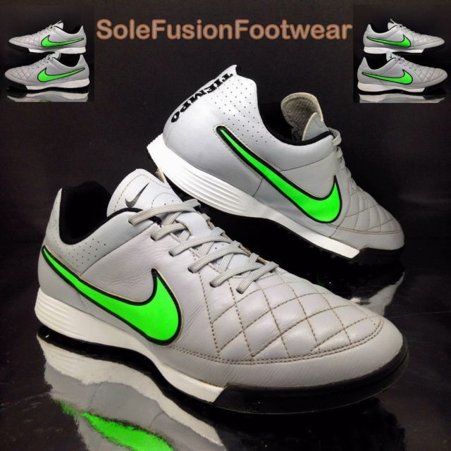 Nike TIEMPO mens Astro Turf Football Trainers Grey sz 10 Leather Soccer Shoes 45 | eBay