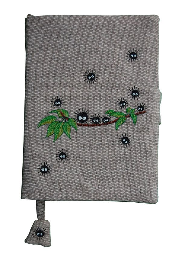 Notebook (A6 Size) with Hand Painted Falling Soot Pattern on Natural dyes handloom fabric Cover