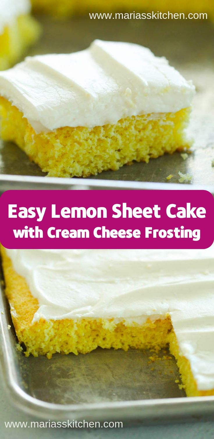 Easy Lemon Sheet Cake (Desserts, Kuchen) – Kuchen – #Cake #cakes #desserts #Eas …   – Blechkuchen