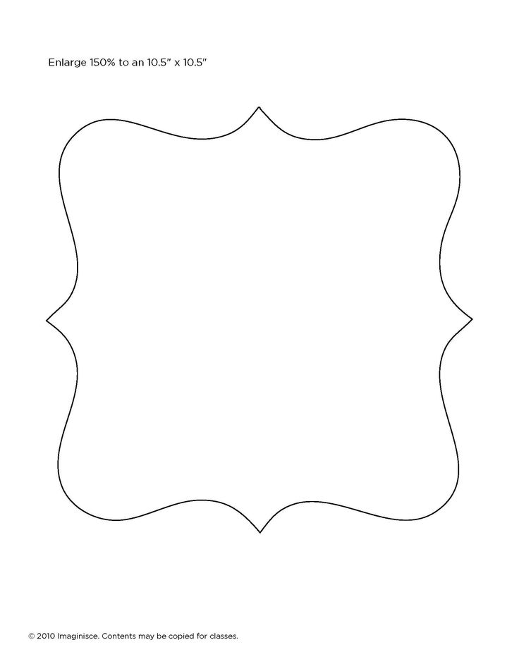 Template for picture frame