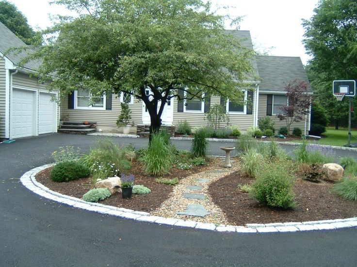 Maybe A Trio Of Lemon Scented Gums In The Centre Of A Circular Driveway  Design With