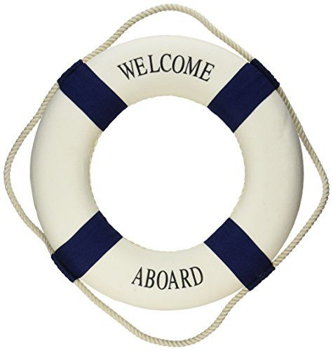 Welcome Aboard Cloth Life Ring Navy Accent Nautical Decor…