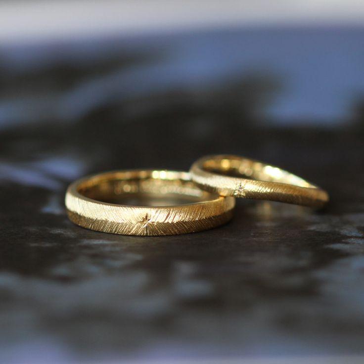 ith:ゴールドでおつくりした結婚指輪Piuma[ピウマ](オーダーメイド/手作り)  [マリッジリング,marriage,wedding,ring,gold,ウエディング,ゴールド,指輪]