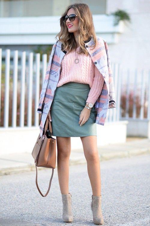 Модные цвета года по версии Pantone: нежно-голубой, нежно-розовый, вязаные тренды 2016, вязаная мода 2016, модные вязаные вещи 2016, стильный вязаный джемпер кардиган (фото 2)