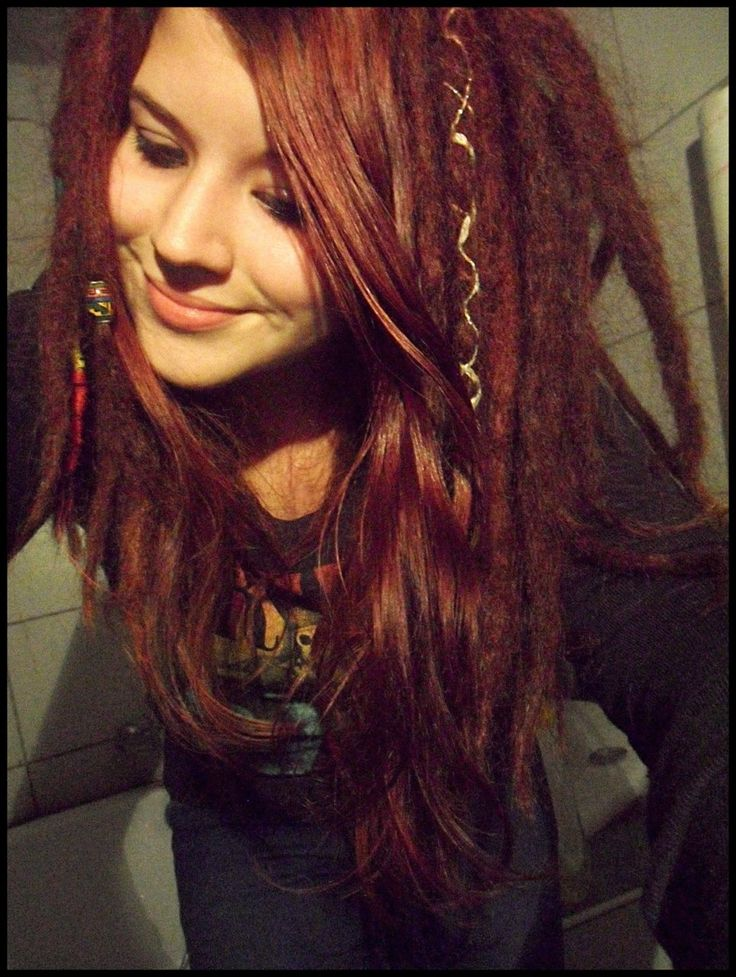 pretty dreads with bangs....this may be JUST what I'm going for!