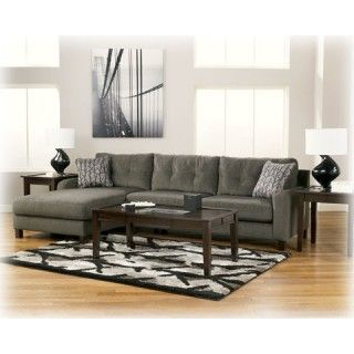 Ashley Furniture Signature Design Siroun   Steel Sectional at Big Sandy Superstore