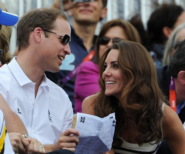 LONDON, ENGLAND - JULY 31:  Prince William, Duke of Cambridge and Catherine, Duchess of Cambridge look on during the Show Jumping Eventing Equestrian on Day 4 of the London 2012 Olympic Games at Greenwich Park on July 31, 2012 in London, England.Royal Families, Duchess Of Cambridge, The Duchess, Olympics Games, Prince Williams, Royal Couples, Kate Middleton, Olympics 2012, Catherine Duchess