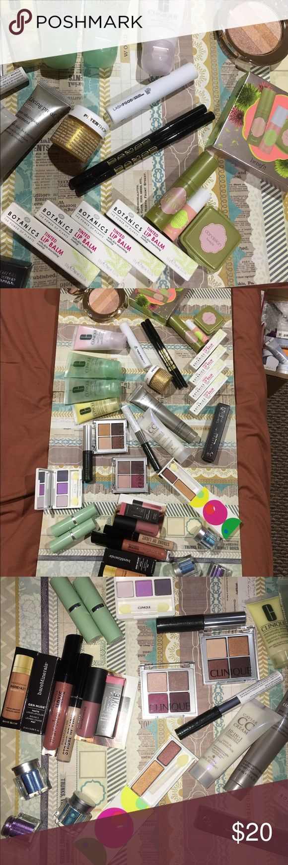 Boots botanics pick 4 Unopened, never used .... Clinique, bare minerals, buxom, benefit, boots botanics, no 7, smashbox, and more...    pick 4 items for $15  .     I have other makeup auctions so check those too.     The peter Roth gold is 0.5 oz (15ml) botanics Makeup