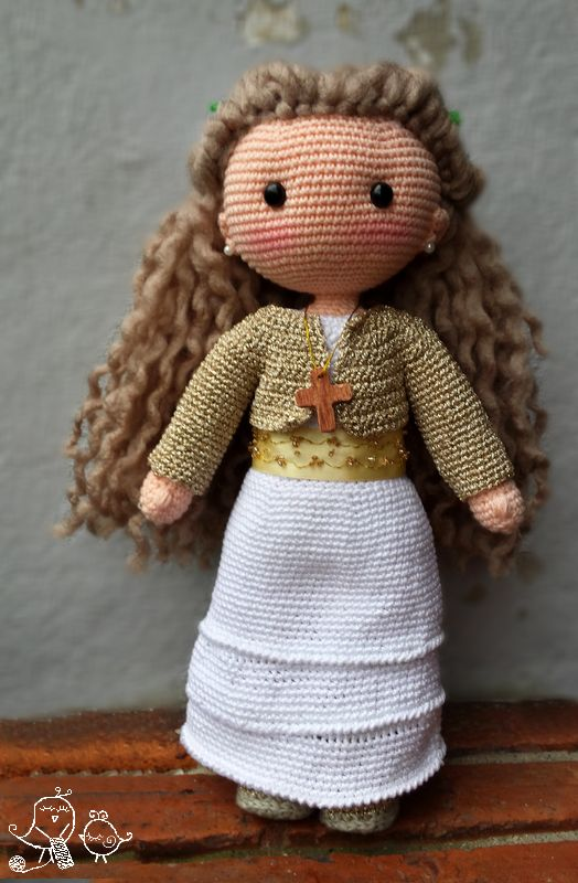 MUÑECA DE COMUNIÓN PERSONALIZADA DE GANCHILLO O CROCHET |  CUSTOM COMMUNION CROCHET DOLL