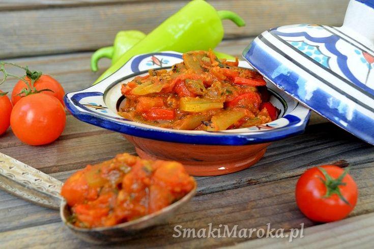 Taktouka, marokańska sałatka z grillowanej papryki
