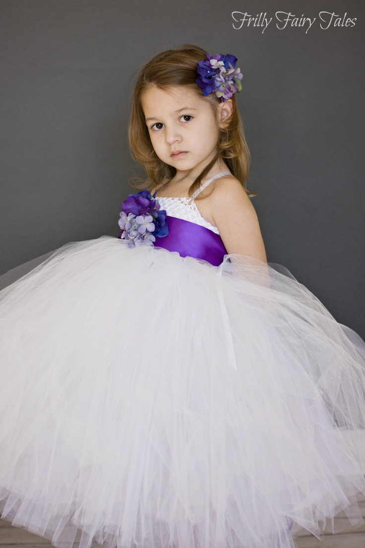 52 best flower girl and special occasion dresses images on pinterest white flower girl dress with purple floral sash via etsy mightylinksfo Choice Image