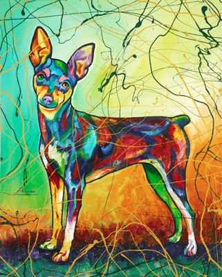 Bella the Min Pin - The Art of Steven Schuman